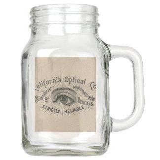 Vintage Advertising Eye Optical Mason Jar