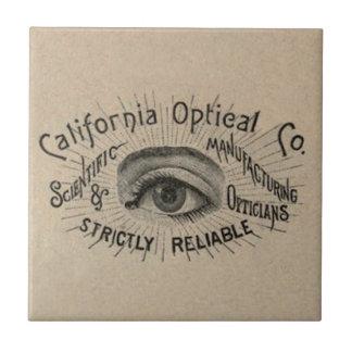 Vintage Advertising Eye Optical Tile