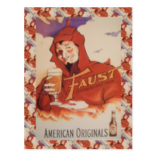 Vintage  advertising, Faust American Originals Postcard