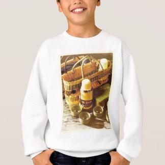 Vintage advertising flask picnic sweatshirt