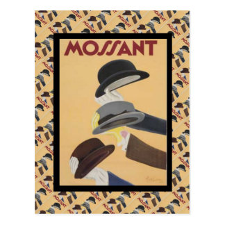 Vintage Advertising, French fashion, Hats Postcard