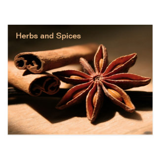 Vintage  Advertising, Herbs and Spices Postcard
