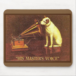 VIntage advertising, His master's Voice Mouse Pad