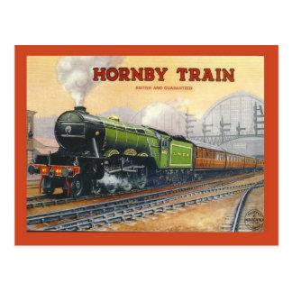 Vintage advertising, Hornby train, miniature sets Postcard