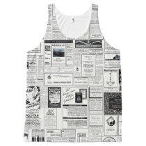 Vintage Advertising Newspaper All-Over-Print Tank Top