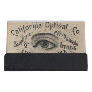 Vintage Advertising Optical Eye Desk Business Card Holder