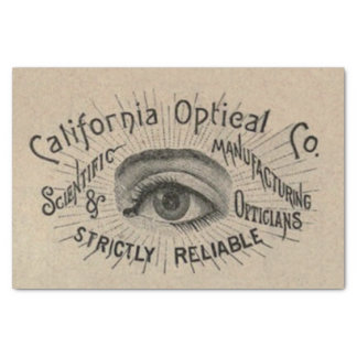 Vintage Advertising Optical Eye Tissue Paper