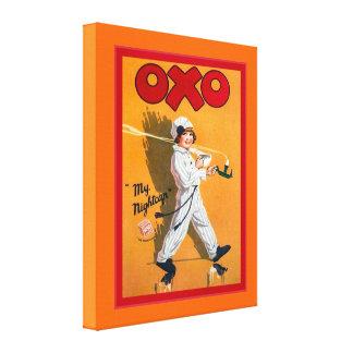 Vintage advertising, Oxo, my nightcap Canvas Print