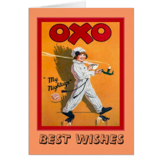 Vintage advertising, Oxo, my nightcap Card