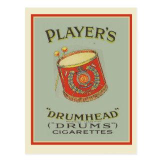 Vintage advertising, Players Drumhead Cigarettes Postcard