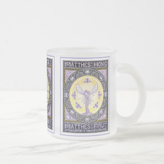 Vintage Advertising Poster by Kramer Frosted Glass Coffee Mug
