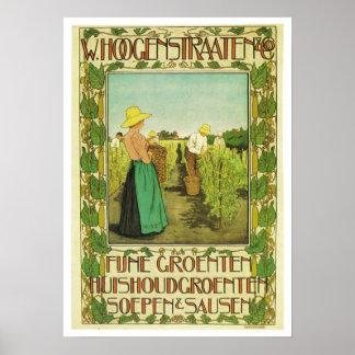 Vintage Advertising Poster W. Hoogstraaten & Co.