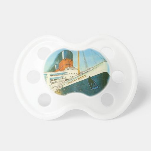 Vintage advertising, RMS Queen Mary Baby Pacifiers