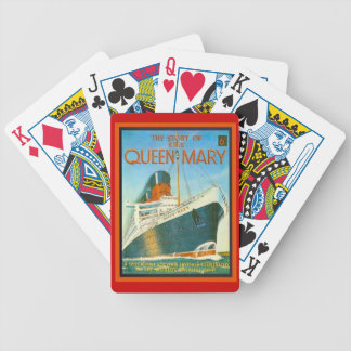 Vintage advertising, RMS Queen Mary Bicycle Playing Cards