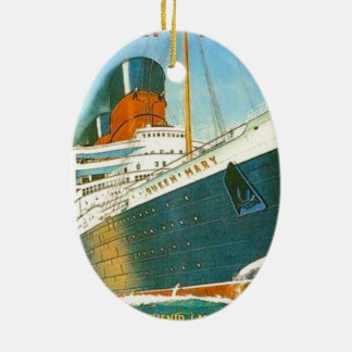 Vintage advertising, RMS Queen Mary Ceramic Ornament