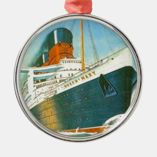 Vintage advertising, RMS Queen Mary Metal Ornament