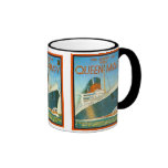 Vintage advertising, RMS Queen Mary Ringer Coffee Mug