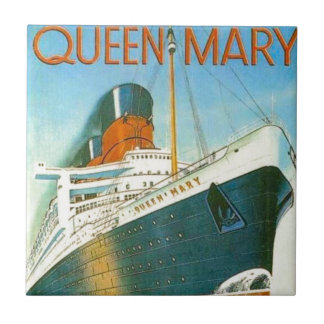 Vintage advertising, RMS Queen Mary Tile