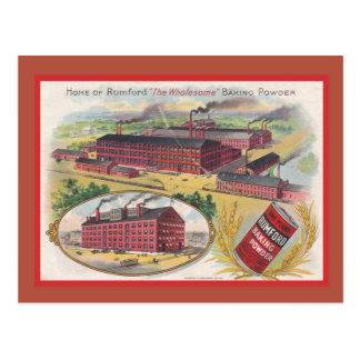 Vintage advertising, Rumbold's baking  powder Postcard