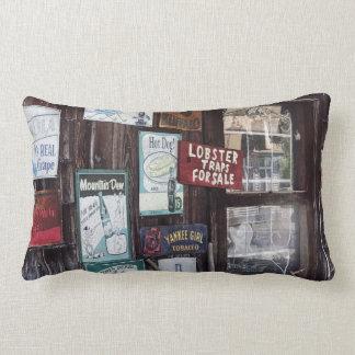 Vintage Advertising Signs Lumbar Pillow
