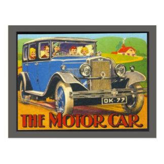 Vintage advertising, The Motor Car Postcard