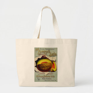 Vintage Advertising Victorian Cantaloupe Fruit Jumbo Tote Bag