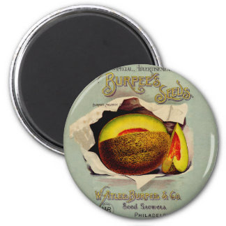 Vintage Advertising Victorian Cantaloupe Fruit 2 Inch Round Magnet