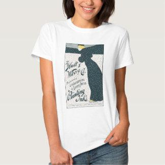 Vintage Advertising  - Woman Skating in Snow Storm T Shirt