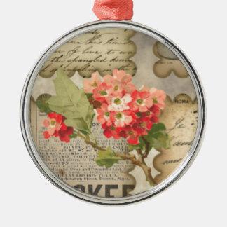 Vintage advertisting flowers scraps handwriting ornaments