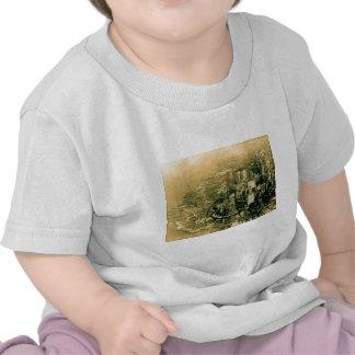 Vintage aéreo de la foto del Lower Manhattan Camisetas