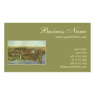 Vintage Aerial Antique City Map of Washington DC Double-Sided Standard Business Cards (Pack Of 100)