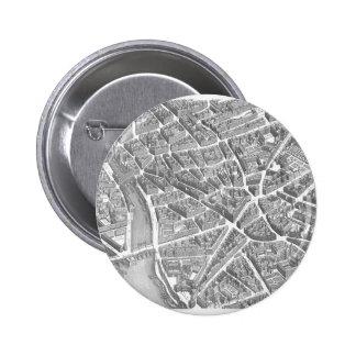Vintage Aerial Paris Map Pin