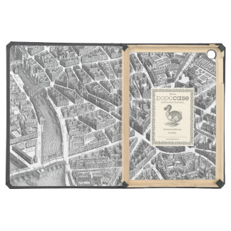 Vintage Aerial Paris Map Cover For iPad Air