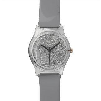 Vintage Aerial Paris Map Wrist Watch