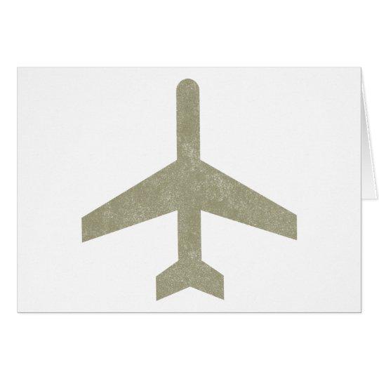 Vintage Aeroplane Card