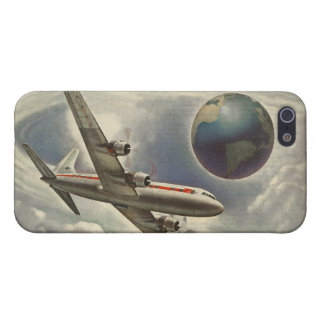 Vintage Aeroplane Circling the World Cover For iPhone SE/5/5s