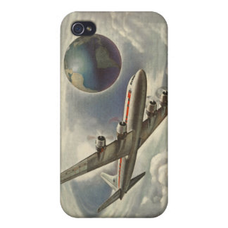 Vintage Aeroplane Circling the World iPhone 4/4S Covers
