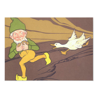 Vintage Aesop Fable Goose that Laid the Golden Egg 5x7 Paper Invitation Card