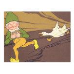 Vintage Aesop Fable Goose that Laid the Golden Egg Postcard