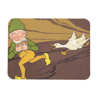 Vintage Aesop Fable Goose that Laid the Golden Egg Rectangle Magnet