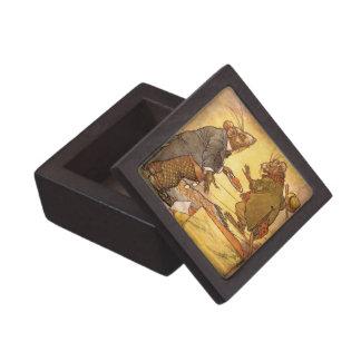Vintage Aesop's Fable, Country Mouse, City Mouse Premium Keepsake Boxes