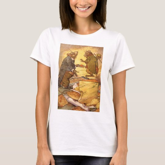 Vintage Aesop's Fable, Country Mouse, City Mouse T-Shirt