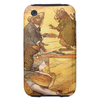 Vintage Aesop's Fable, Country Mouse, City Mouse Tough iPhone 3 Cover