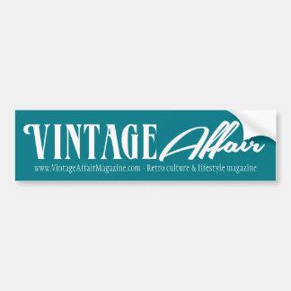 Vintage Affair White Bumper Sticker