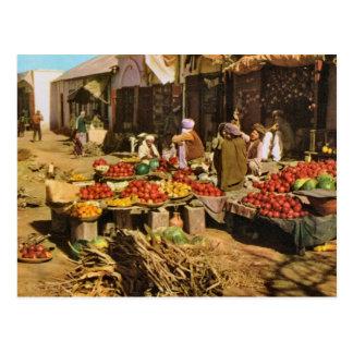 Vintage Afganistán, mercado callejero en Kandahar Postales