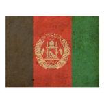 Vintage Afghanistan Flag Post Card