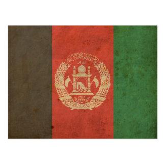 Vintage Afghanistan Flag Postcard