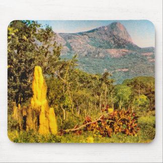 Vintage Africa, Angola, Termite mounA Mouse Pad