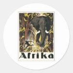 Vintage Africa Classic Round Sticker