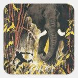 Vintage Africa Square Sticker